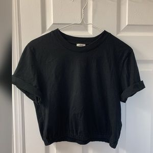 Wilfred relaxed fit black crop top